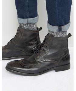 Hudson London   Кожаные Ботинки-Броги Simpson