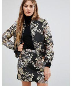 Fashion Union | Комбинируемый Пиджак С Вышивкой И Эффектом Металлик