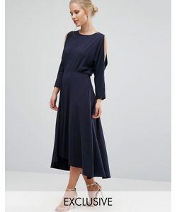 Closet London | Платье С Длинными Рукавами И Вырезами На Плечах Closet