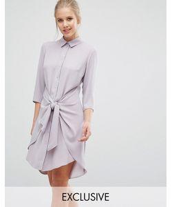 Closet London | Платье С Завязками Спереди И Длинными Рукавами Closet