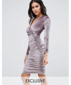 Club L | Бархатное Платье Миди