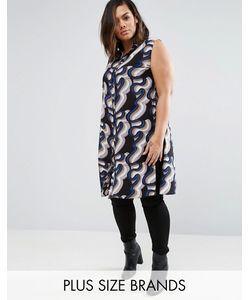 Koko | Длинная Рубашка С Волнистым Принтом Plus