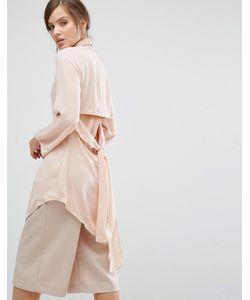Parallel Lines | Удлиненная Рубашка С Вырезом И Завязками Сзади