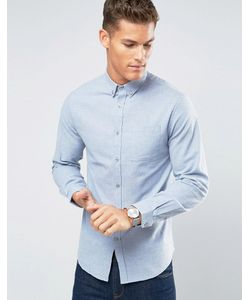 Lindbergh | Голубая Фланелевая Рубашка Узкого Кроя