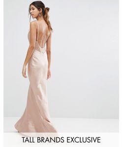 Jarlo Tall | Платье Макси С Лямками И Кружевной Вставкой