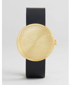 LEFF AMSTERDAM | Золотисто-Черные Часы С Кожаным Ремешком D-Series 38 Мм