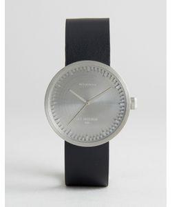 LEFF AMSTERDAM | Серебристые Часы С Черным Кожаным Ремешком D-Series 38 Мм