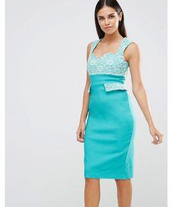 Vesper | Платье-Футляр С Кружевным Верхом И Карманами