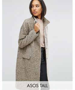 ASOS TALL | Oversized Coat In Wool Blend With Funnel Neck