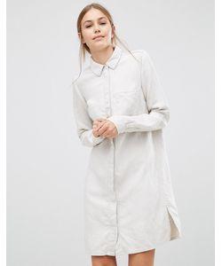 Just Female | Льняное Платье-Рубашка Sketch