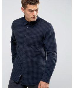 Jack Wills | Черно-Синяя Фланелевая Рубашка В Клеточку Salcombe