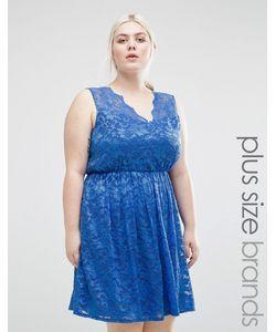 Lovedrobe | Кружевное Короткое Приталенное Платье Plus