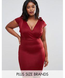 Club L | Платье Миди С Завязками На Плечах Plus