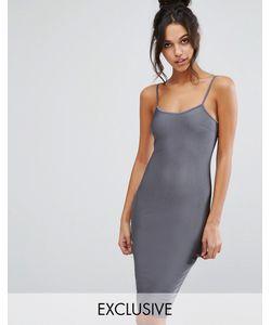 NaaNaa   Облегающее Платье Миди Цвета Металлик