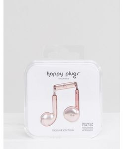 Happy Plugs   Наушники Цвета Розового Золота