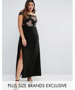 Truly You | Платье Макси Со Спущенными Плечами И Отделкой Пайетками