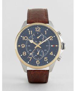 Tommy Hilfiger | Часы С Хронографом И Коричневым Кожаным Ремешком Dean