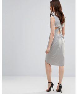 Wal G | Платье С Драпировкой И Перекрестными Планками Сзади