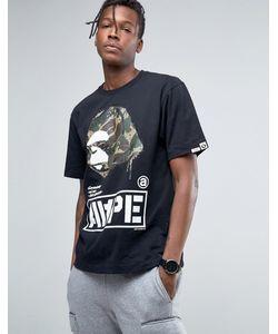 AAPE | Футболка С Большим Камуфляжным Логотипом By A Bathing Ape