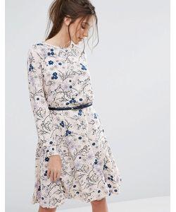 Closet London   Платье С Длинными Рукавами И Поясом Closet