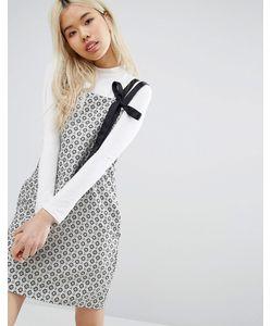 STYLE NANDA   Цельнокройное Платье С Принтом Stylenanda