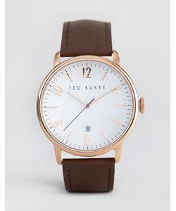 Ted Baker | Классические Часы С Кожаным Ремешком И Корпусом Цвета Розового Золота Ted