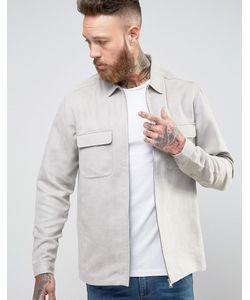 Asos | Рубашка Навыпуск Из Искусственной Замши На Молнии