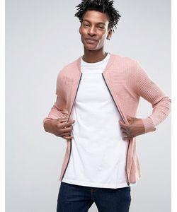Asos | Обтягивающая Куртка-Пилот Из Вафельного Трикотажа