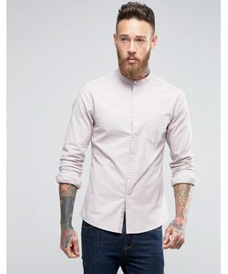 Asos | Оксфордская Рубашка Скинни В Стиле Casual С Воротником На Пуговице