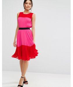 Asos | Плиссированное Платье Колор Блок