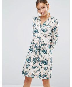 Closet London | Платье С Длинными Рукавами И Принтом Closet Blu