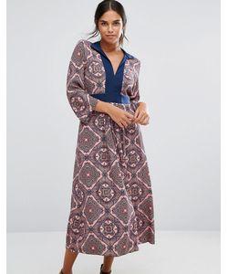 Closet London | Платье С Длинными Рукавами Принтом Пейсли И Завязкой Сзади Closet