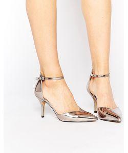 Head Over Heels | Туфли Из Двух Частей Цвета Металлик На Высоком Каблуке Head Over