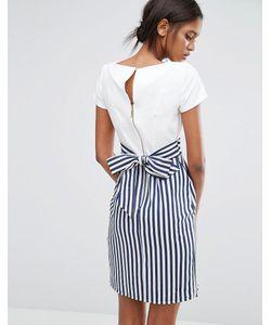 Closet London | Полосатое Платье С Завязкой Сзади И Пуговицами Closet