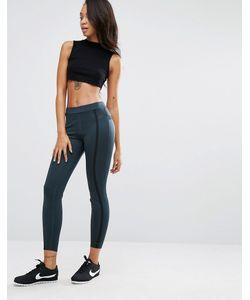 Nike | Темно-Зеленые Леггинсы Premium