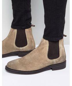 Asos | Замшевые Ботинки Челси На Массивной Подошве