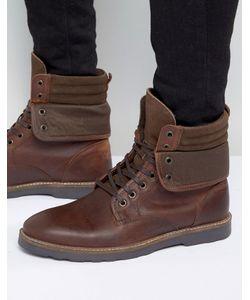 Asos | Кожаные Ботинки На Шнуровке С Манжетами
