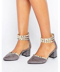 Daisy Street   Туфли На Среднем Каблуке С Ремешками И Заклепками