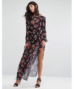 FLYNN SKYE | Платье Макси С Цветочным Принтом