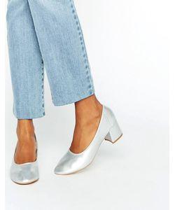 Daisy Street   Серебристые Туфли На Среднем Каблуке