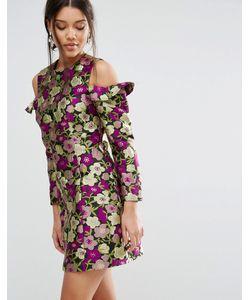 Asos | Цельнокройное Платье С Цветочным Принтом