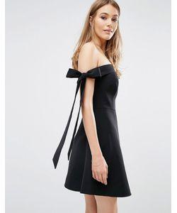 Keepsake   Платье С Открытыми Плечами И Бантиками