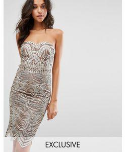 Lipsy | Платье-Футляр С Лифом-Бандо И Вышивкой Michelle Keegan Loves
