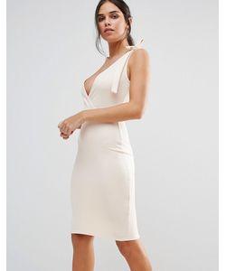 Club L | Платье-Футляр Миди С Бантом