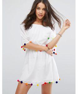 Pitusa | Праздничное Платье С Помпонами