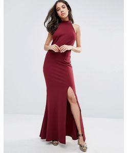 Club L | Платье Макси С Открытой Спиной И Высоким Разрезом