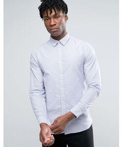 Selected Homme | Узкая Оксфордская Рубашка В Полоску С Длинными Рукавами