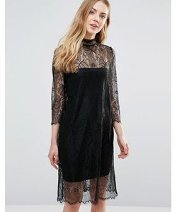 Ganni | Полупрозрачное Кружевное Платье С Длинными Рукавами California