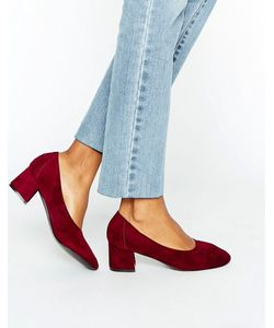 Daisy Street   Бордовые Туфли На Среднем Каблуке
