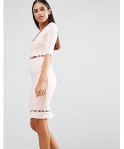 AX Paris | Облегающее Платье С Отделкой Лесенка